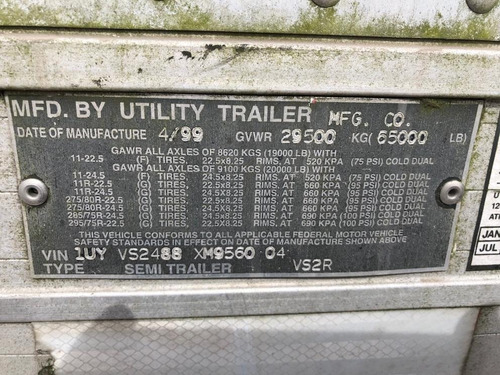 caja refrigerada 1999 utility 53 pies thermoking recien impo