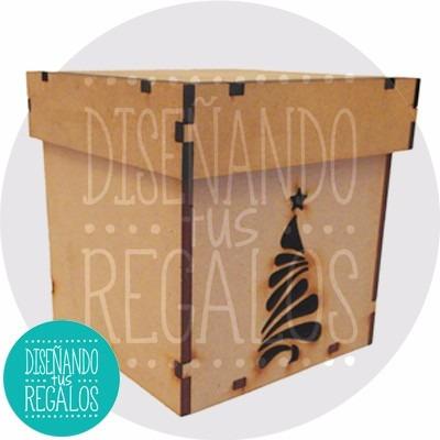 caja regalo pan dulce navidad serpentina peque - cod nvd-170