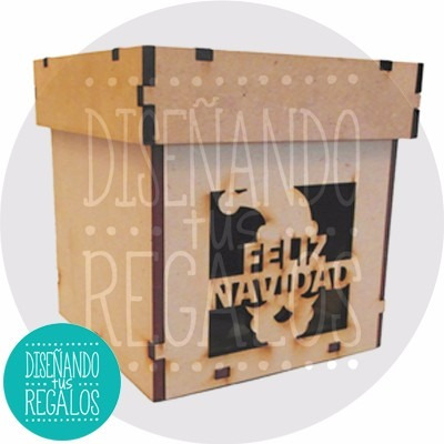 caja regalo pan dulce navidad serpentina peque .x1u- nvd-170