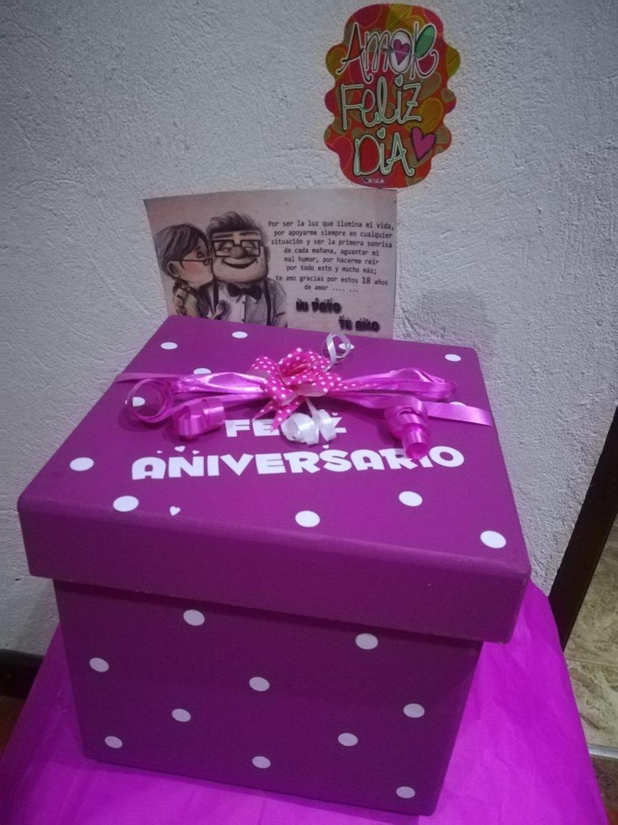 Caja regalo sorpresa madera 20x20 envio gratis en mercado libre - Regalos de muebles gratis ...