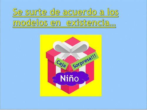 caja regalos sorpresa niño 20 pzas + envio gratis