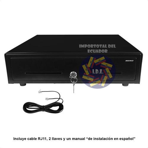 caja registradora 5 para billetes 8 para monedas cable rj11