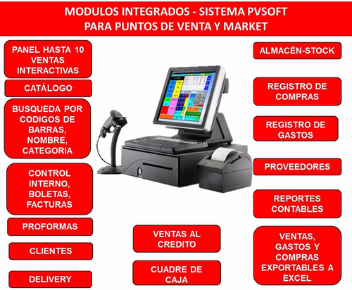 caja registradora computarizada economica termica market