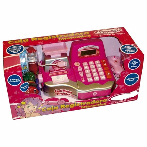 caja registradora  con microfono  y accesorios casa valente