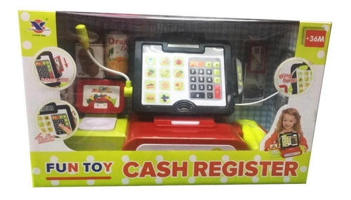 caja registradora con sonido scanner pantalla accesorios edu
