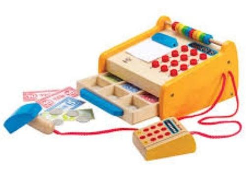 caja registradora de madera hape e3121 educando