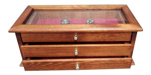 caja relojes de bolsillo colección salvat de madera (pz)