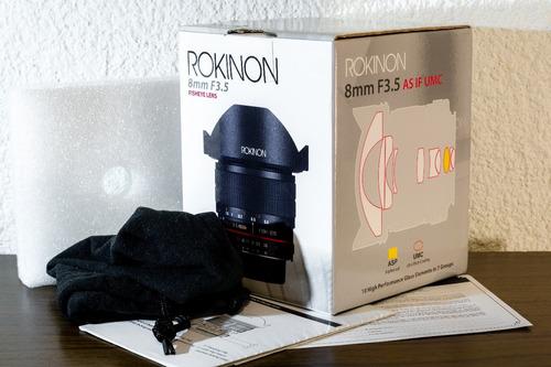 caja rokinon 8mm f3.5