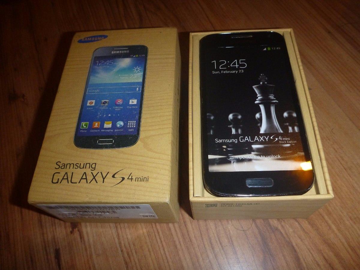 Caja Samsung Galaxy S4 Mini Con Maqueta Del Celular