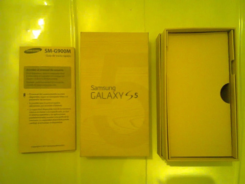caja samsung galaxy s5  +  manual original
