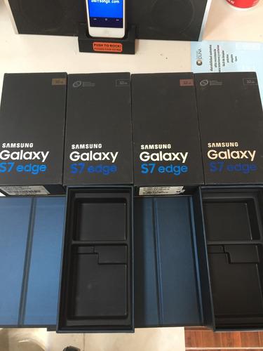 caja. sansung. gakaxy  s7 y edge  de 32 gb. de todas