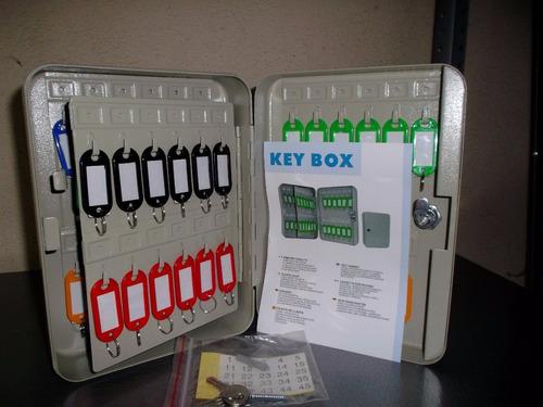 caja seguridad 48 llaves metalica llaveros de regalo obi 214