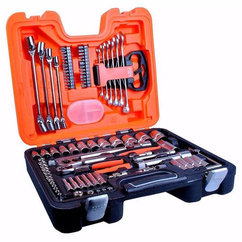 caja set herramientas llave tubo bahco original s910