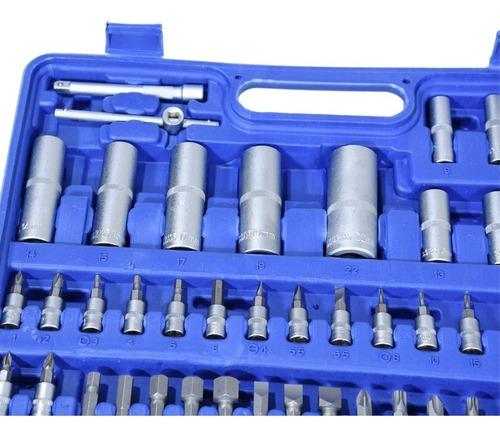 caja set juego de tubos bocallaves 108 piezas 1/2-1/4 boedo.