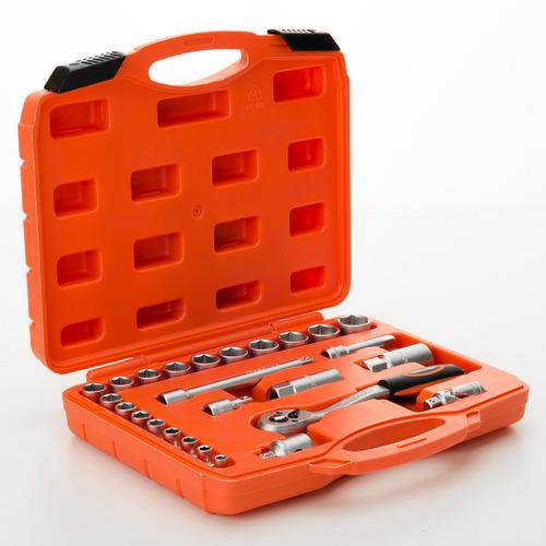 caja set juego tubos bocallaves enc 3/8 26pcs hamilton jb38