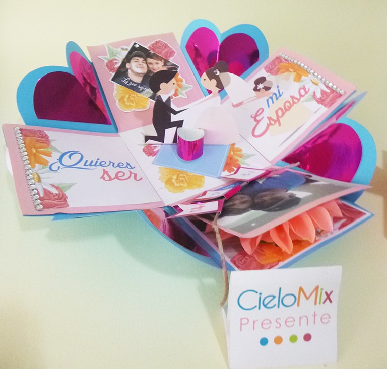Caja sorpresa aniversario compromiso enamorados bs 12 for Sorpresas para aniversario