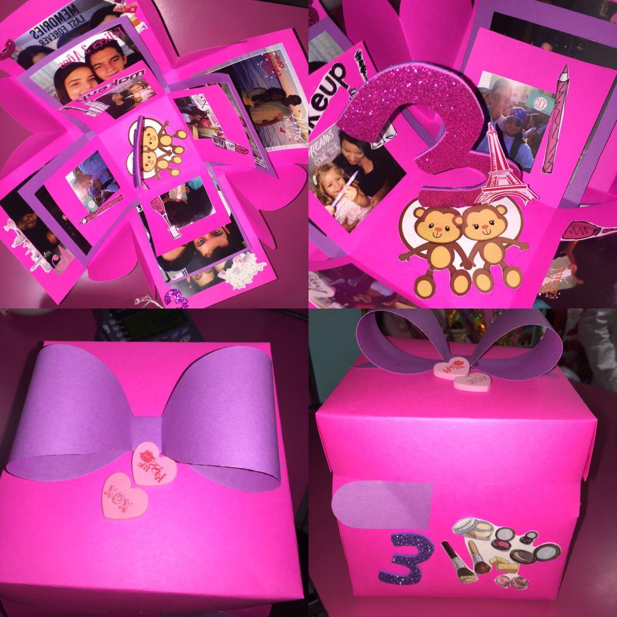 Caja sorpresa o explosiva amor cumplea os aniversario - Sorpresa cumpleanos amiga ...