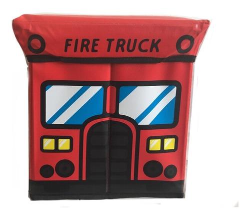 caja taburete plegable para almacenamiento fire truck