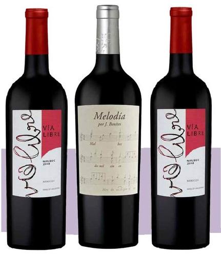 caja taninos malbec vino tinto (6u) valle de uco mza