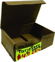 caja tarjetera de micro corrugado (10 x 7 x 4)
