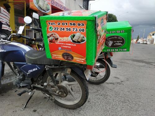 caja térmica grande para reparto moto