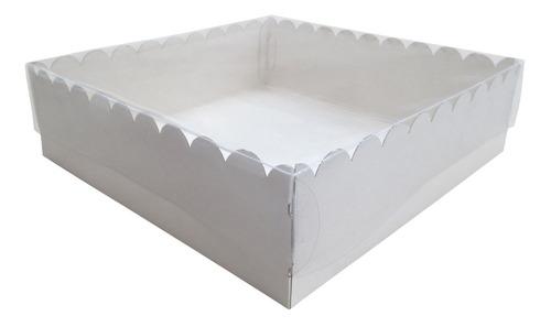 caja torta, cookies, macarrón, desayuno 24x24x7 c/visor x10