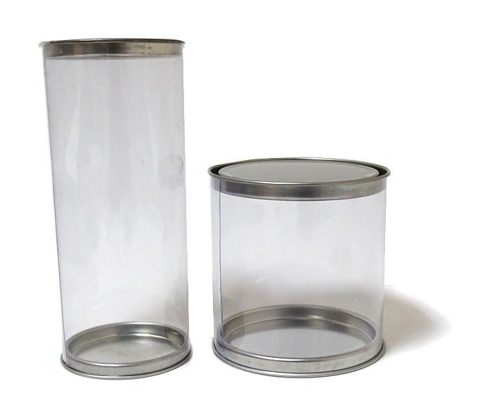 c6337f8769 Caja Tubo De Acetato Y Tapas Metálicas De 7 X 10 Cm - $ 18.22 en ...