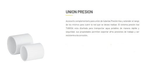 caja union 2 presion tubosa