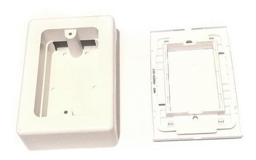 caja universal pvc con placa ciega conexiones cctv
