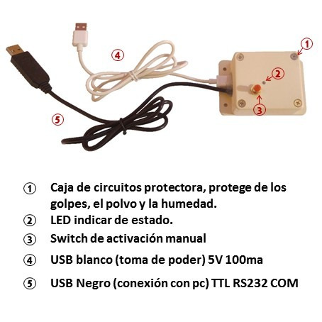 caja usb relay control desde pc y activación manual homemade