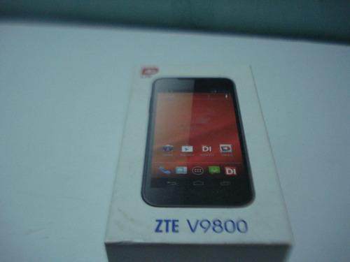 caja vacia de carton para telefono zte v9800 (usada)