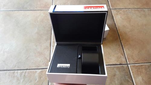 caja vacía de reloj certina original  impecable caja externa