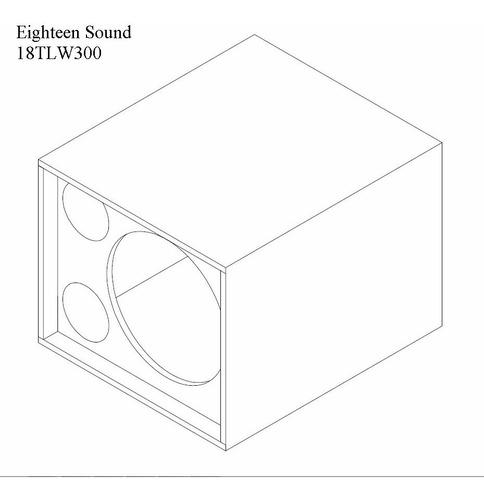 caja vacia para bafle mod. eighteen sound tlw3000