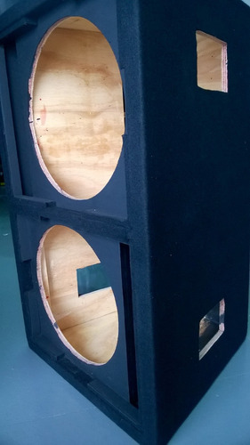 caja vacia para graves2 x 18 fabricado en fenolico