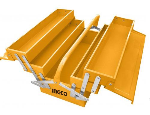 caja valija para herramientas de metal 3 estantes ingco