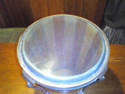 caja vallenata de madera con parche acrilico
