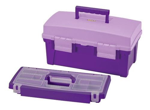 caja vanity organizadora rimax 16  morada 11000