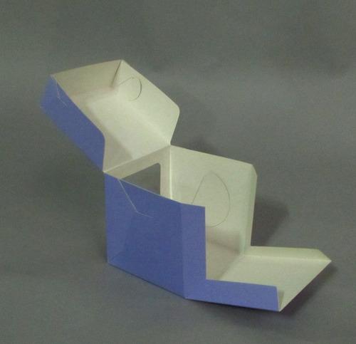 caja visor pvc 10x10x10 cm (x50 u) tortas mini porción - 050