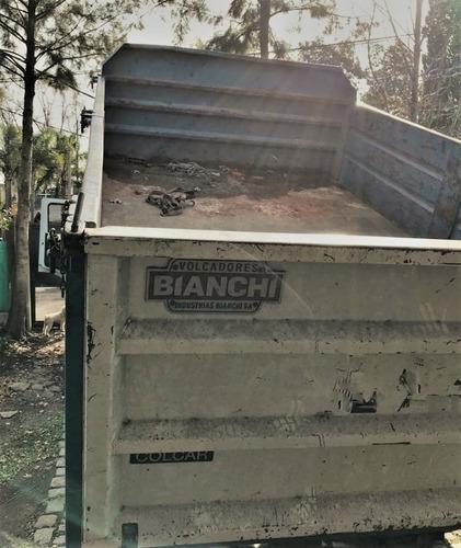 caja volcadora camion, bianchi barandas desmontables 8m3