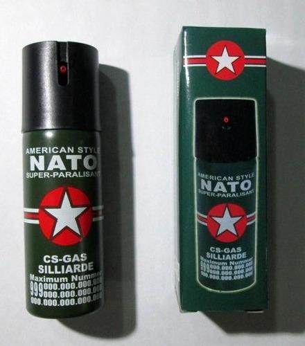 caja x 10 gas pimienta spray nato defensa 60 mililitros