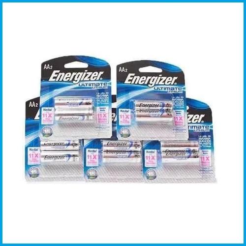 caja x 12 pila litio aa energizer ultimate bateria