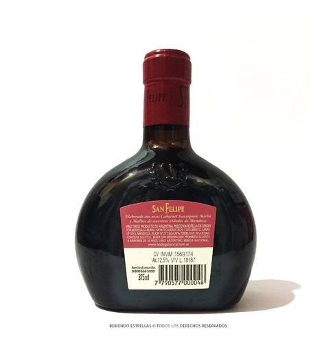 caja x 12 vinos san felipe mini caramañola tintos 375ml