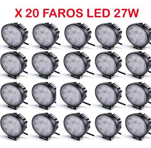 caja x 20 faros proyectores 12 / 24 volts redondos p/ 4x4