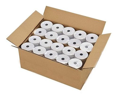 caja x 50u rollo de papel térmico ticket 80 mm x 30 mts 55gr