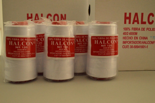 caja x12 hilo halcón color n°120 4000m - maquineria himatex