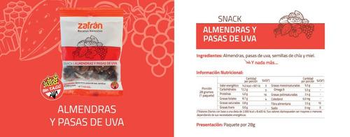 caja x12u snacks saludables aminopiñada 28g zafrán dismaser