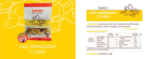 caja x12u snacks saludables karicaju 28g zafrán dismaser