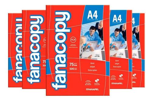 caja x5 fanacopy a4 - el mejor precio también en papel
