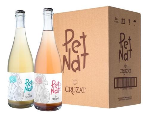 caja x6 cruzat pet nat: 3 chardonnay 3 pinot noir espumante