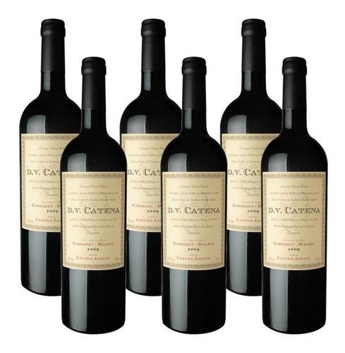 caja x6 vino dv cabernet malbec catena 750 ml - 12 canillas